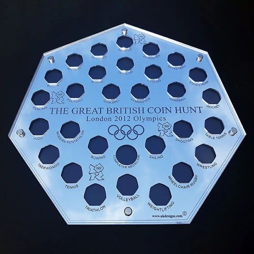 Huge 2012 Olympics 50p Coin Display Case Including Completer Medallion Space