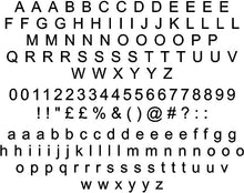 Arial Regular Font - Sticky Letters & Numbers