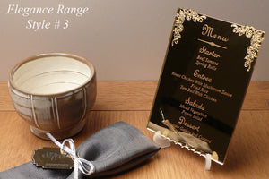weddings - engagements - napkin holders - wedding favours - coasters - wedding table top signs