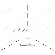 plastic template set - equilateral triangle template set