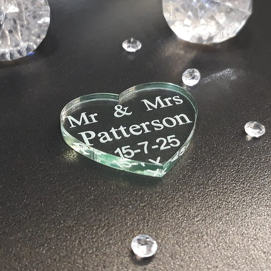 Personalised Acrylic Scatter Hearts