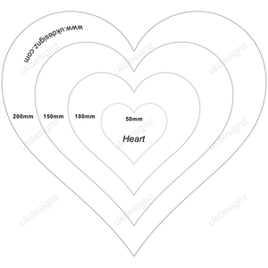 plastic heart templates - acrylic template set - clear template set