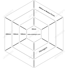 plastic hexagon template set