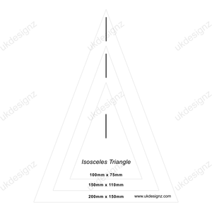 bunting template set - plastic triangle stencil set - triangle template set - isosceles template set