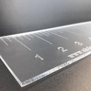 "Clear Acrylic Ruler Sets, in Inches with 1/4"" inch increments - Ideal for quilting"