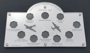 75th Anniversary VE Day IOM Victory 50p Coin Display Case