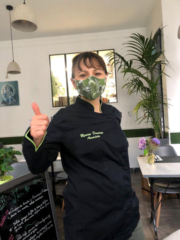 fabric face mask masque restaurant covid19