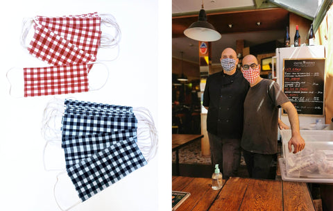 Fabric face mask restaurant masque tissus covid19