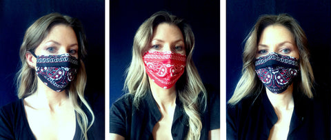 Bandana print cotton mask masque barriere