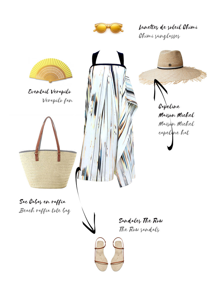 How to style the sundress at the beach