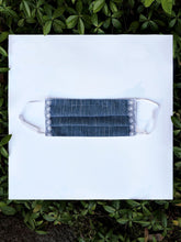 Load image into Gallery viewer, Soft denim with lace fabric face mask - made to order