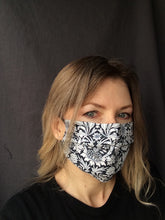 Load image into Gallery viewer, Fabric face mask - blue collection