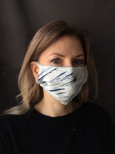 Fabric face mask - blue collection