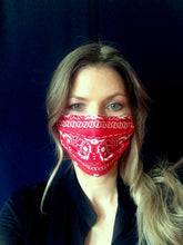 Load image into Gallery viewer, Cotton face mask Bandana print