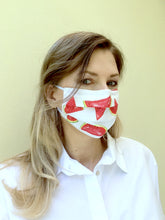 Load image into Gallery viewer, Cotton & Silk fabric face mask - ready to ship