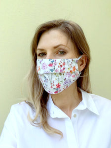 Cotton & Silk fabric face mask - ready to ship