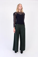Load image into Gallery viewer, Wool blend Wide-Leg Pants - Green