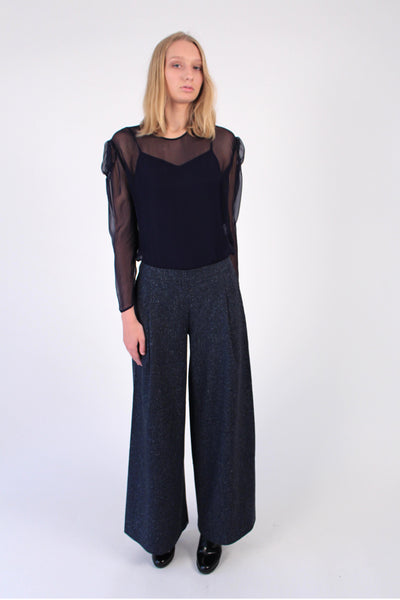 Wool blend Wide-Leg Pants