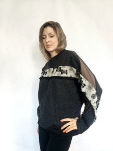 Ibuki Sweatshirt with embellishments - Made to order