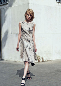 Linen burn-out Dress
