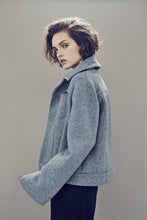 Load image into Gallery viewer, Jacket in mixed wool with zips all along sleeves - Light grey