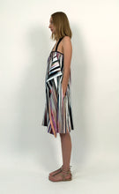 Load image into Gallery viewer, Multicolored Glitch Stripped Cotton Sundress