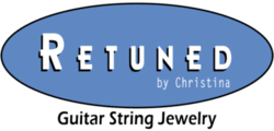 retuned by christina guitar string jewelry logo colorado used reuse recycle repurpose jewelry bracelet necklace earrings