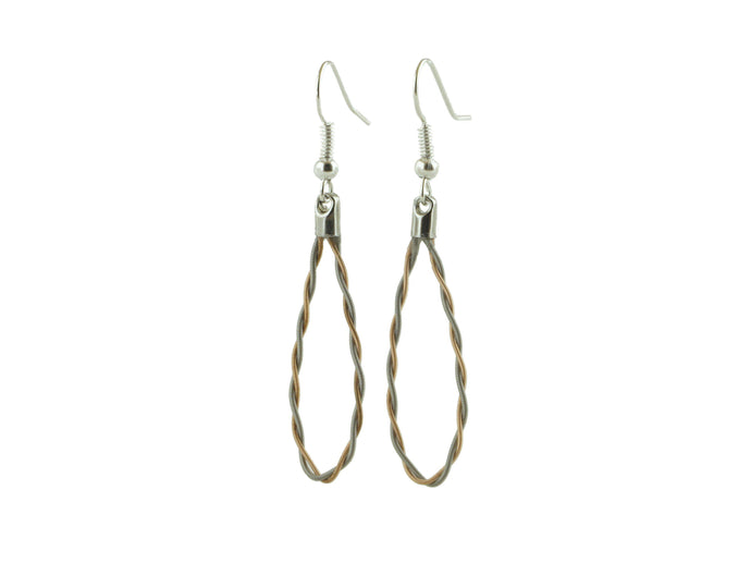 Twisted Guitar String Earrings - Retuned Jewelry