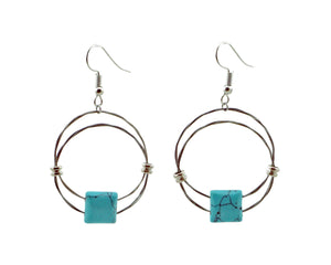 Emily Hoop Earrings Guitar String Earrings - Retuned Jewelry - Used Recycled Repurposed guitar string jewelry