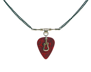 Guitar Pick Necklace 2.0 Guitar String Necklace - Retuned Jewelry - Used Recycled Repurposed guitar string jewelry