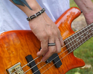 Guitar String Ring - Black - Retuned Jewelry