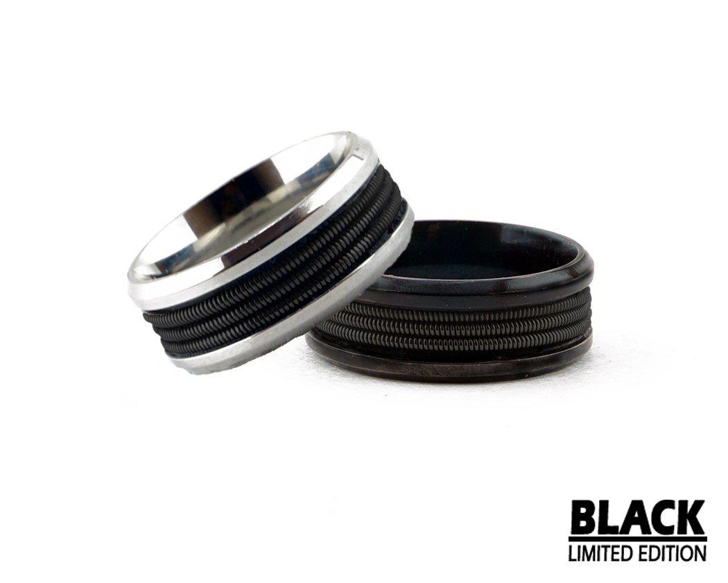 Limited Edition Black Guitar String Ring - Retuned Jewelry