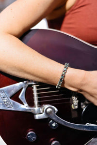 Chloe Guitar String Guitar String Bracelet - Retuned by Christina - Used Recycled Repurposed guitar string jewelry