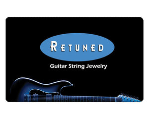 Gift Card (Physical) Guitar String Gift Card - Retuned Jewelry - Used Recycled Repurposed guitar string jewelry