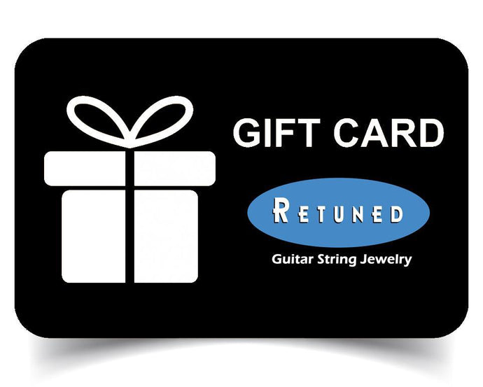 Gift Card (Email) Guitar String Gift Card - Retuned Jewelry - Used Recycled Repurposed guitar string jewelry