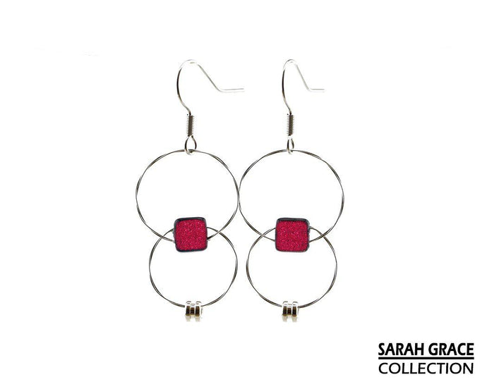 Sarah Grace Collection Earrings Guitar String Earrings - Retuned Jewelry - Used Recycled Repurposed guitar string jewelry