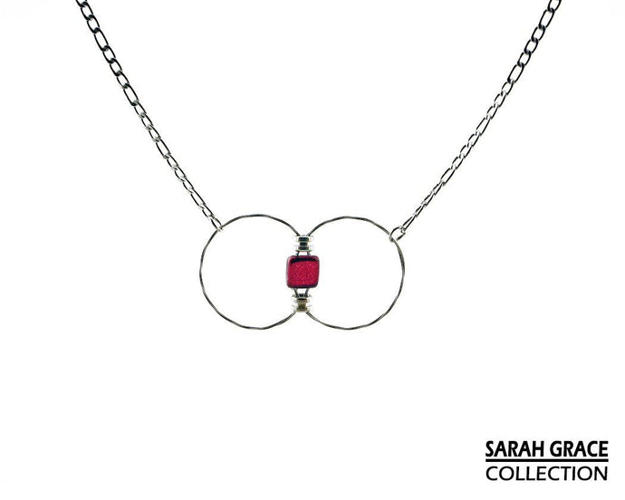 Sarah Grace Collection Necklace Guitar String Necklace - Retuned Jewelry - Used Recycled Repurposed guitar string jewelry