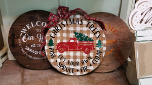 Decorative Christmas Wood Rounds Class