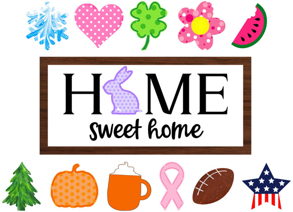 Home Sweet Home Interchangeable Sign Kit