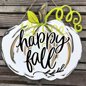 "Pumpkin ""Happy Fall"" Door Hanger Class"