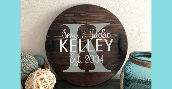 Decorative Personalized Wood Rounds Class