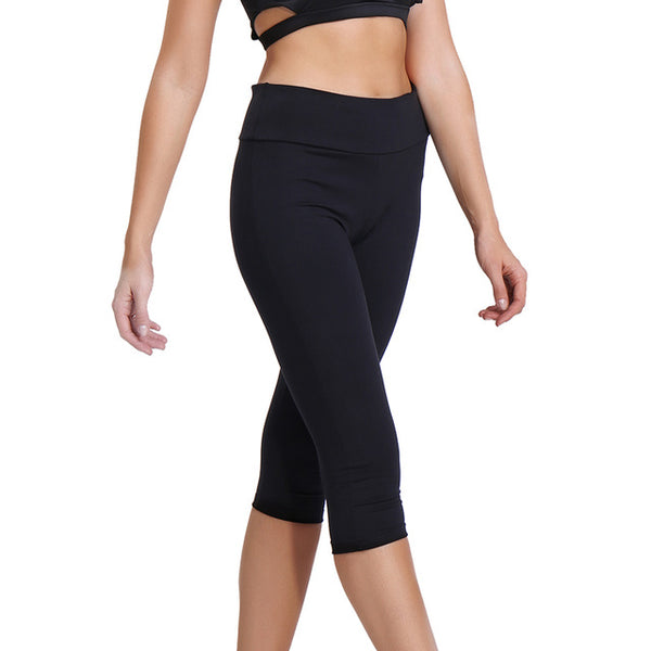 e2e20763e6b CROSS1946 Women Capri pants Professional yoga Leggings yoga pants Gym  Running sport leggings Strech Fitness Tights