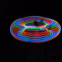 LED Hoops - Somewhere Over the Rainbow LED Hoop | Autumn Flow