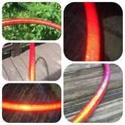 Reflective Hoops - Red Opal Reflective Color Morph Hoop