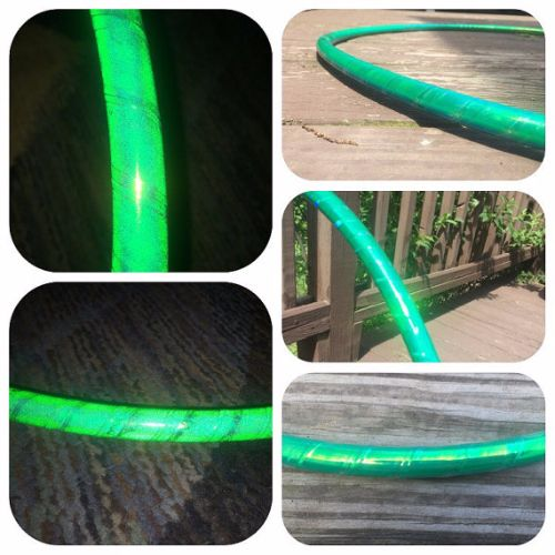 Reflective Hoops - Green Opal Reflective Color Morph Hoop