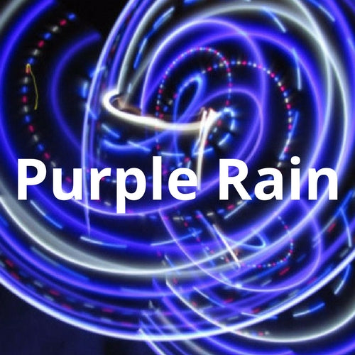 LED Mini Hoops - Purple Rain