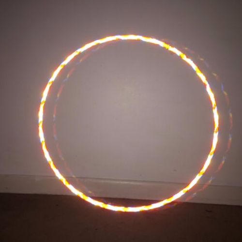 Reflective Hoops - Ring of Fire Color Morph Mirror Hoop