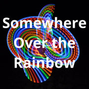 LED Mini Hoops - Somewhere Over the Rainbow
