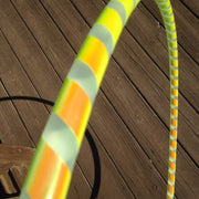 Taped Hoops - Sunburst Spiral Color Morph Taped Hoop