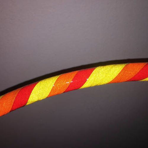 Reflective Hoops - Warm Side Spiral Rainbow Reflective Hoop